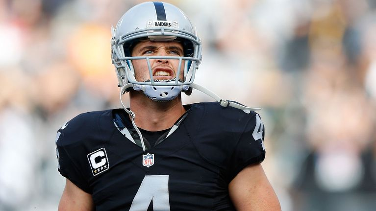 """3-Derek Carr is throwing 65.9% completion rate and he is averaging 258.3 yards per game. He has thrown 13 touchdowns with 3 interceptions. After many years of the Raiders not coming close to the playoffs Carr is finally making chance at it. The Raiders are currently 7-2. Michael Crabtree the starting wide receiver on the Raiders says, """"Derek has definitely helped our team. He's really helping show the NFL what we are made for."""""""