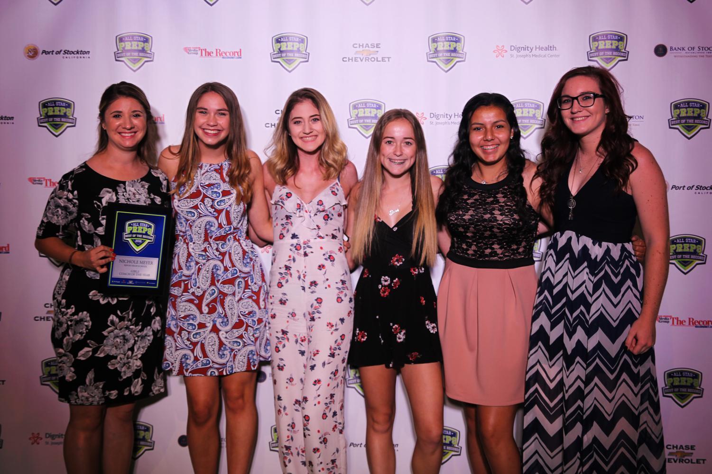 From left to right: Nichole Meyer, Aubree Pelon, Breeana Alvarez-Huckell. Kierra Chavez, Deanna Sandoval, and Genevieve Maurice.
