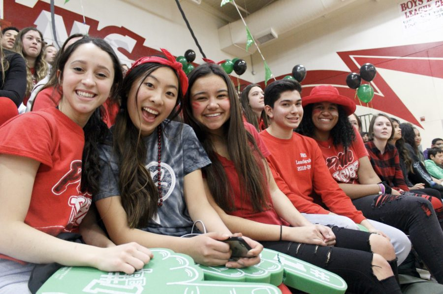 Part of the leadership team sit together during the Winterfest rally.