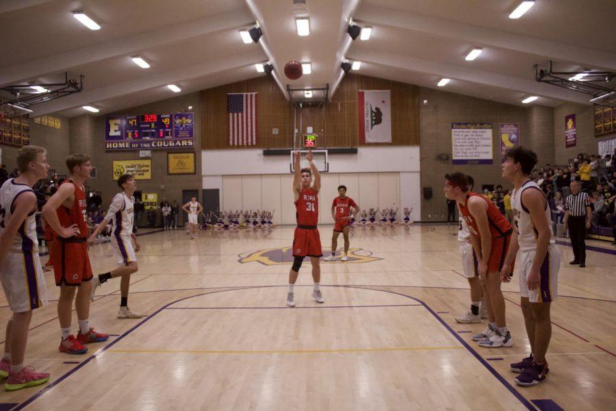 Boys Varsity Basketball Team Against Escalon