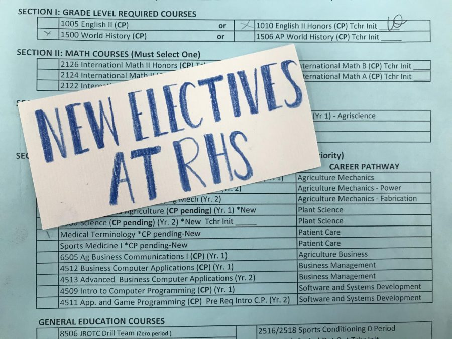 New Electives RHS