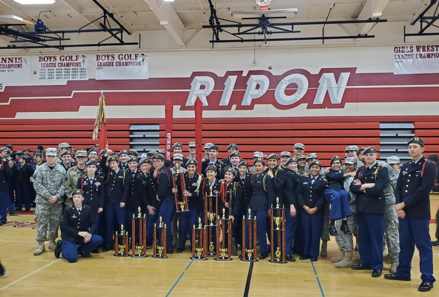 Ripon's JROTC Drill Competition